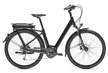 Bicicleta urbana híbrida Peugeot eC01 D9 Shimano Alivio 9S 700 mm Negro 2019