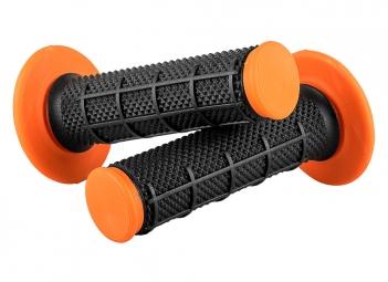 Paire De Grips O'neal Diamond Mx Dual Compound Noir/Orange