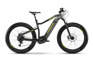 Vtt fat bike semi rigide 2019 haibike xduro fatsix 9 0 sram nx 11v gris s 155 165 cm