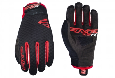 Paire de Gants Longs Five XC-R Noir Rouge
