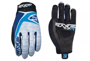 Paire de Gants Longs Five XC-R Replica Blanc Bleu
