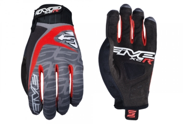 Paire de Gants Longs Five XC-R Replica Gris Rouge Noir