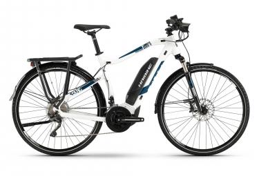 Haibike SDURO Trekking 4.0 2019 Hybrid Touring Bike 28'' Shimano XT 10s White Blue
