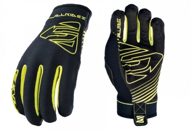 Five AllRides Long Gloves Black Fluo Yellow
