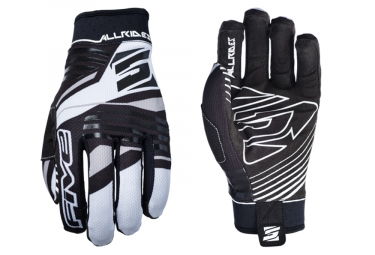 Paire de Gants Longs Five AllRides Replica Blanc Noir