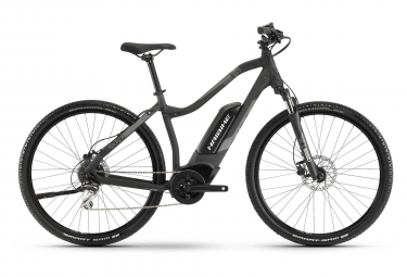 Bicicleta Híbrida Eléctrica Haibike SDURO Cross 1.0 Femme 28'' Gris