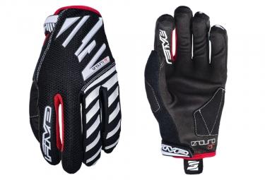 Five Enduro Air Long Gloves Black White