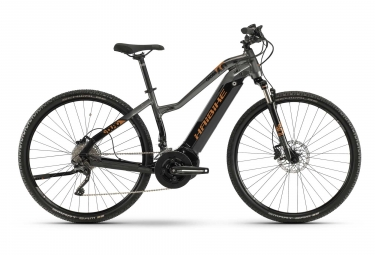 Haibike SDURO Cross 6.0 Femme Womens Hybrid Bike Gris / Noir