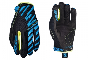 Five Enduro Air Long Gloves Blue Fluo Yellow Black