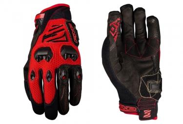 Paire de Gants Longs Five DH Rouge Noir