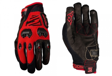 Paire de Gants Longs Five DH Rouge Noir