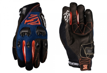 Paire de Gants Longs Five DH Bleu Marine Orange
