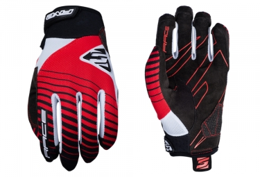 Paire de Gants Longs Five Race Rouge Noir Blanc