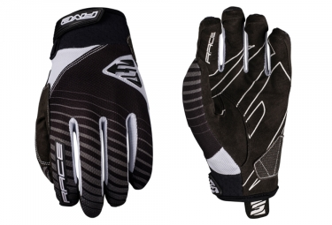 Five Race Long Gloves Black White