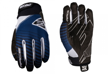 Five Race Long Gloves Navy Blue White Black
