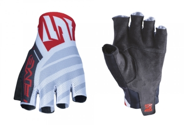 Five RC2 Short Gloves White Red