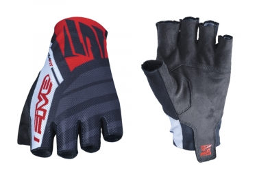 Five RC2 Short Gloves Red Black