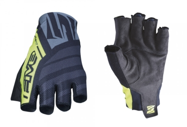 Five RC2 Short Gloves Black Fluo Yellow