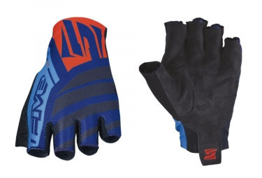 Paire de Gants Courts Five RC2 Bleu Marine Orange Fluo