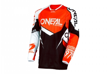 Maillot Manches Longues O'neal Hardwear Flow Orange Noir
