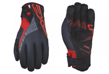 Five RC-W1 Winter Gloves Red Black