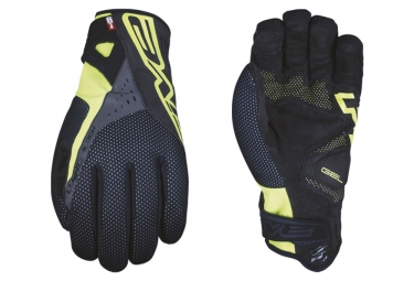 Five RC-W1 Winter Gloves Fluo Yellow Black