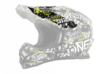 O'Neal 3Series Youth Attack Spare Visor Black Neon Yellow