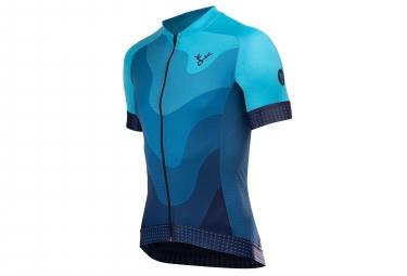 Lebram maillot manches courtes izoard 2 bleu coupe ajuste xs