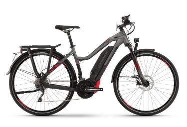 Bicicleta Híbrida Eléctrica Haibike SDURO Trekking S 8.0 Femme 28'' Gris / Rouge