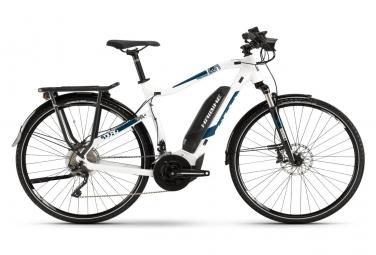 Haibike SDURO Trekking 4.0 2019 Women's Hybrid Touring Bike 28'' Shimano XT T8000 10s White Blue