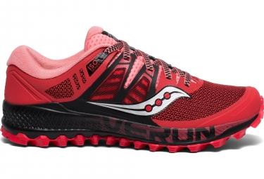 Zapatillas Saucony Peregrine ISO para Mujer Rojo / Negro