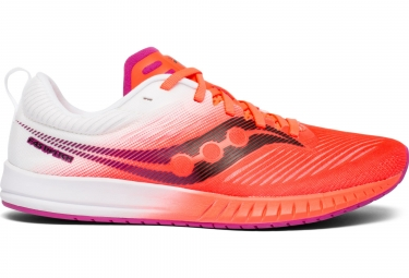 Chaussures de Running Femme Saucony Fastwitch 9 Rouge / Blanc