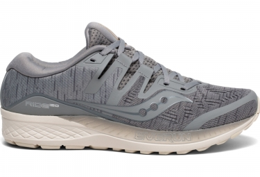 Saucony Ride ISO Running Shoes Grey Shade