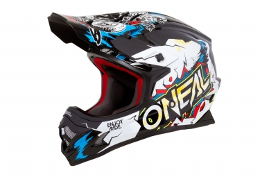 Casque integral enfant o neal 3series villain blanc kid s 47 48 cm
