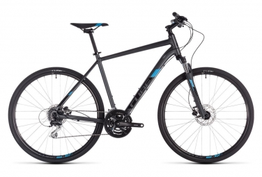 Cube Complete Touring Bike Nature Shimano Mixt 8s Iridium Black / Blue 2019