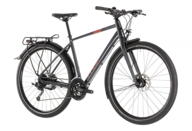 Cube Touring Bike Travel Shimano Mixt 9s Iridium Negro / Rojo 2019