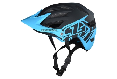 Troy Lee Designs A1 Classic Mips Youth MTB Helmet Black Ocean Blue Matte