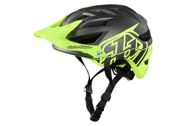 Troy Lee Designs A1 Classic Mips Youth MTB Helmet Dark Grey Neon Yellow Matte