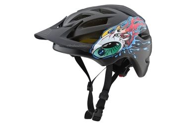 Troy Lee Designs A1 Eyeball Mips Youth MTB Helmet Black Silver Matte