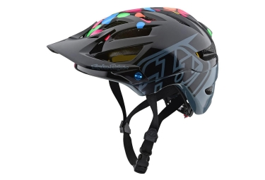 Casque vtt enfant troy lee designs a1 jelly beans mips noir gris brillant unique 48