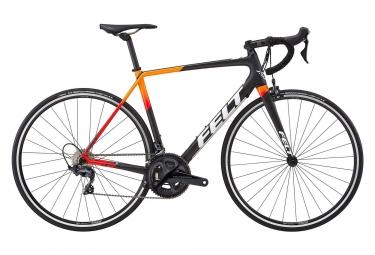 Velo de route felt fr3 shimano ultegra 11v carbone noir rouge orange 2018 54 cm 165 173 cm