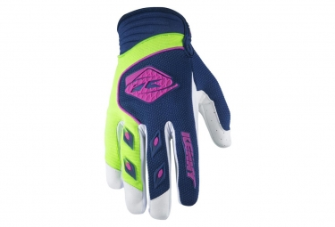 Kenny Track Gloves Blue Green