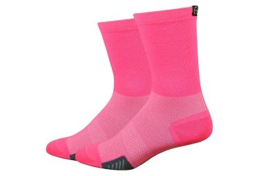 Defeet Cyclismo Socks Flamingo Pink