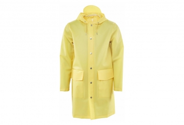 Rains Hooded Coat Foggy Jaune