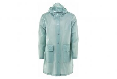Rains Hooded Manteau Foggy Dusty Mint