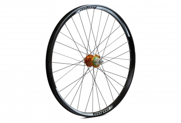 Roue arriere hope tech dh pro 4 27 5 9x135 12x142mm orange sram xd