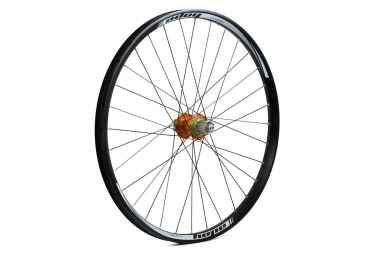 Roue arriere hope tech dh pro 4 26 9x135 12x142mm orange shimano sram