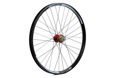 Roue arriere hope tech dh pro 4 26 9x135 12x142mm rouge shimano sram
