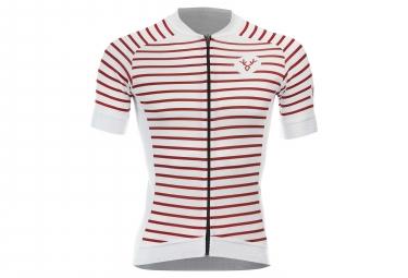 LeBram Ventoux 2 Short Sleeve Jersey Slim Fit White