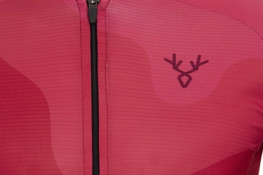 Maillot Manches Courtes LeBram Izoard 2 Rouge Coupe Ajustée